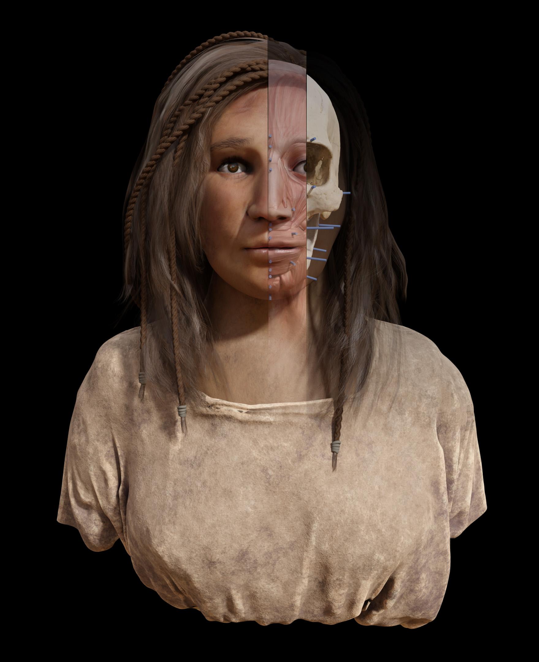 Reconstrucción facial aborigen canaria